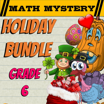 Beginning of the Year | Back to School Activities 6th Grade Math Mysteries