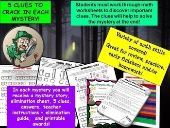 6th Grade Math Mystery Holiday Bundle: CSI Math