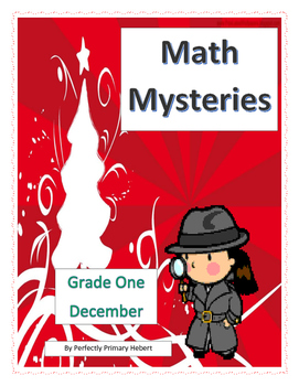 Math Mysteries-Daily Word Problems and Interactive Notebook-December