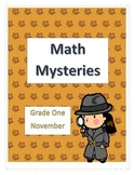 Math Mysteries- Daily Word Problems and Interactive Notebook-November