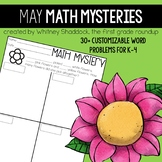 Customizable Math Word Problems for May