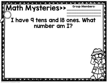 Math Mysteries Mini-Unit