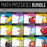 Math Word Problems Year Long BUNDLE {Customizable for K-4}