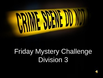 Math Mysteries division 3