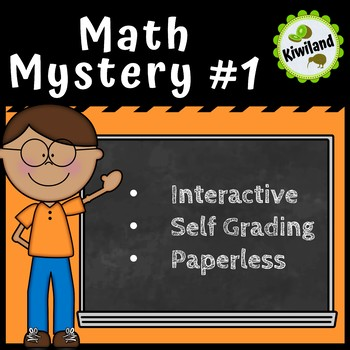 Math Mystery #1 - Digital Task Boom Learning Cards