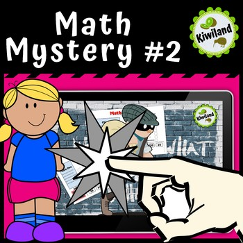 Math Mystery #2 - Digital Task Boom Learning Cards
