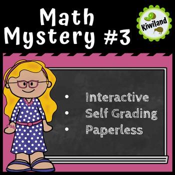 Math Mystery #3 - Digital Task Boom Learning Card