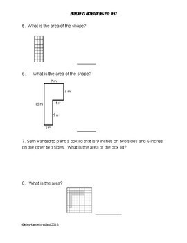 Math Mystery 8 - What's Inside? (Area)