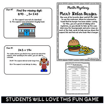 5th Grade Math Mystery Game Math Games for 5th Grade