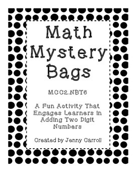 Math Mystery Bags - Adding Two Digit Numbers