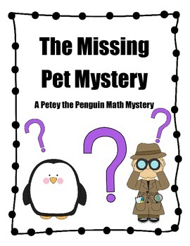 Math Mystery Book: Petey and the Lost Pet Mystery 1.OA.1