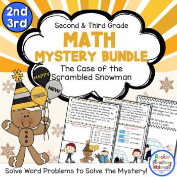Math Mystery Bundle Grade 2 and 3-Case of the Scrambled Ne