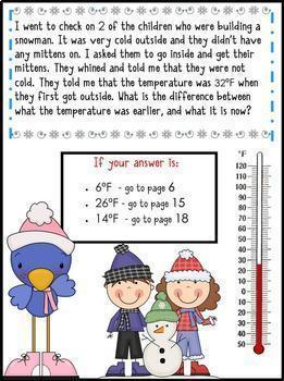 Math Mystery Bundle Grade 2 and 3 - Case of the Silly Snow Day-CCSS