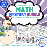 2nd & 3rd Grade Word Problems - Math Mystery Bundle - Case of the Silly Snow Day