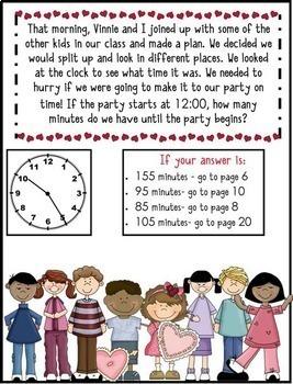 Math Mystery Bundle Grade 3 and 4 - Case Valentine Villains-CCSS