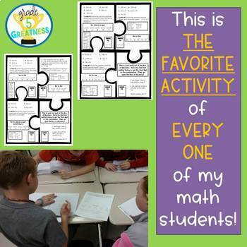 Math Mystery Fifth Grade Bundle of Fractions, Decimals, and more!
