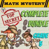 5th Grade Math Mystery COMPLETE Bundle - CSI Math Mysteries - Spiral Math Review