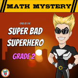 Math Mystery Free Activity  {GRADE 2 Math Spiral Review} - Super Bad Superhero