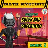 Math Mystery Free Activity  {2nd Grade Math Spiral Review} - Super Bad Superhero