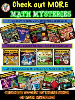 Math Mystery - Case of The Super Bad Superhero {GRADE 4 Mixed Math Review}