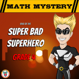 Math Mystery Free Activity  {GRADE 4 Math Spiral Review} - Super Bad Superhero