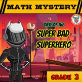 Math Mystery Free Activity  {3rd Grade Math Spiral Review} - Super Bad Superhero
