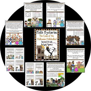 Math Mystery-Case of the Halloween Hullabaloo-Grade 2-CCSS