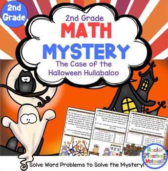 *2nd Grade Word Problems - Math Mystery - Case of the Halloween Hullabaloo