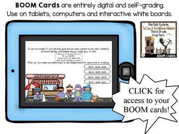 Math Mystery-Case of the Halloween Hullabaloo-Grade 3 - BOOM Cards