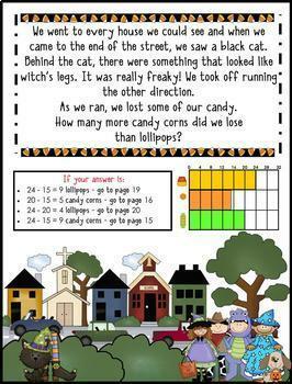 Math Mystery-Case of the Halloween Hullabaloo-Grade 3-CCSS