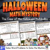 3rd Grade - Math Mystery - Case of the Halloween Hullabaloo
