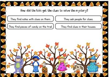 Math Mystery-Case of the Halloween Hullabaloo-Grade 4 - BOOM Cards