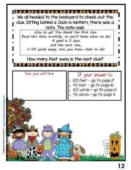 Math Mystery-Case of the Halloween Hullabaloo-Grade 4-CCSS