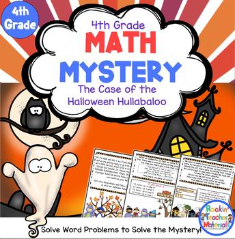 4th Grade Word Problems - Math Mystery - Case of the Halloween Hullabaloo