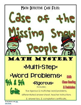 Math Mystery: Case of the Missing Snow People | Multi-Step Word Problems