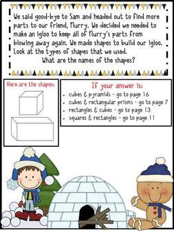 Math Mystery-Case of the Scrambled New Year's Snowman-Grade 3
