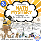 3rd Grade Word Problems - Math Mystery -Case of the Scramb