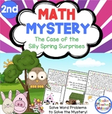 2nd Grade Word Problems - Math Mystery - Case of the Silly Spring Surprises