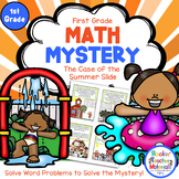 1st Grade Word Problems - Math Mystery - Case of the Summer Slide
