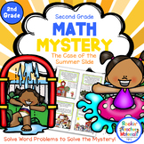 2nd Grade Word Problems - Math Mystery - Case of the Summer Slide