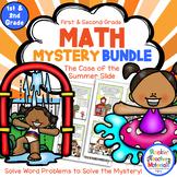 Math Mystery-Case of the Summer Slide-Grades 1 & 2 - Summer Math Activities