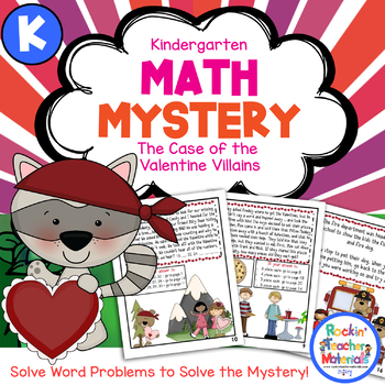 Math Mystery-Case of the Valentine Villains-Kindergarten