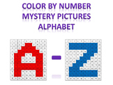 Math Mystery Color By Number Alphabet All 26 Letters