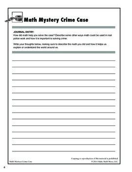 Math Mystery Crime Case