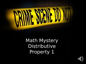 Math Mystery Distributive property 1