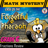 6th Grade Fractions Review: Fractions Math Mystery Activity