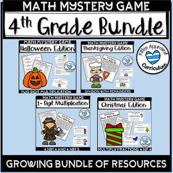 Math Mystery Grade 4 Bundle