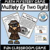 Multiply Two Digit By One Digit Math Mystery Games for Multiplication