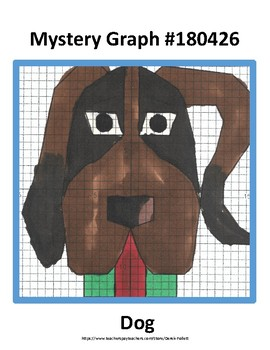 Math: Mystery Graph Picture 180426 Dog (Algebra, Graphing, Coordinates)
