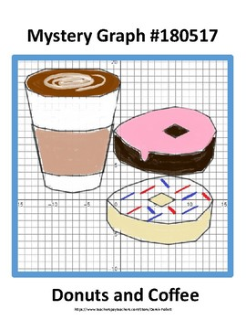 Math: Mystery Graph Picture 180517 Donuts and Coffee (Algebra, Coordinates)
